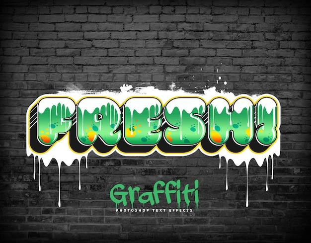Stile del livello psd degli effetti di testo graffiti Psd Premium