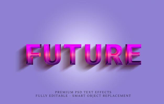 Stile di testo futuro degli anni '80 Psd Premium