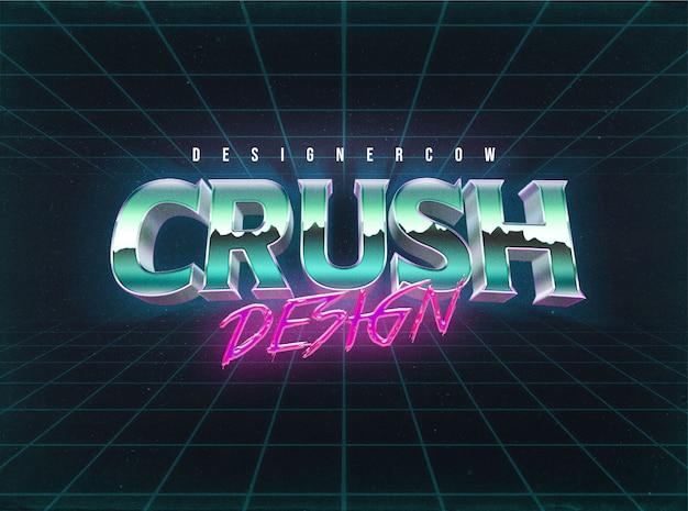 Stile livello effetti testo anni '80 Psd Premium