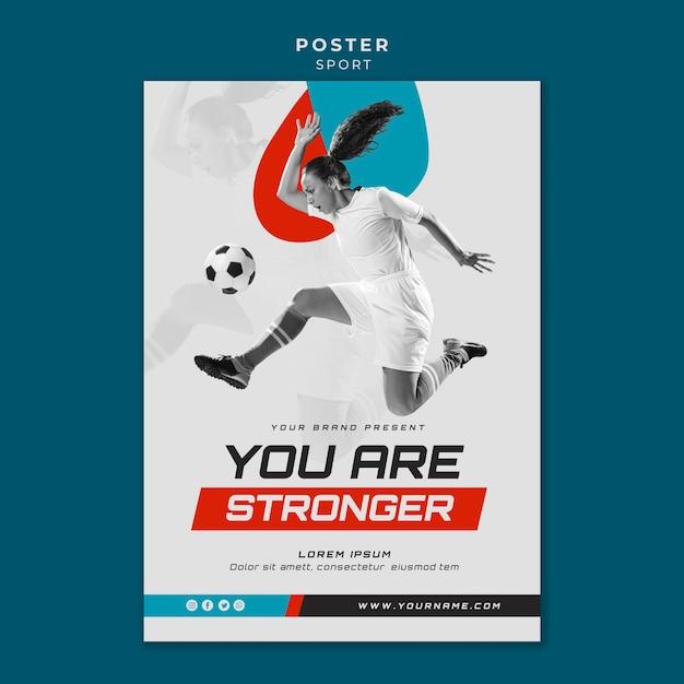 Stile poster sportivo concetto Psd Gratuite