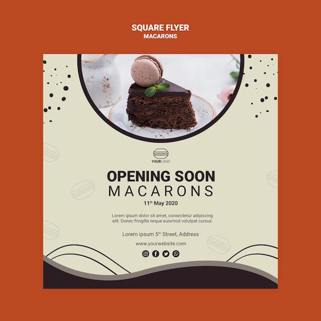 Stile volantino quadrato macarons Psd Gratuite