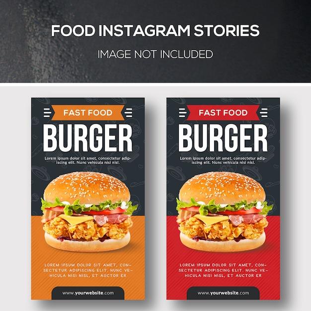 Storie di instagram alimentari Psd Premium