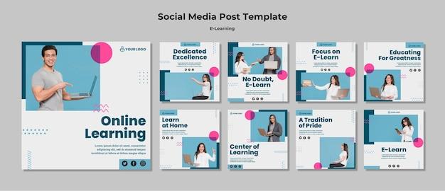 Storie di instagram con l'e-learning Psd Gratuite