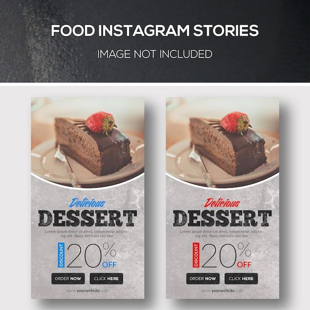 Storie di instagram di cibo Psd Premium
