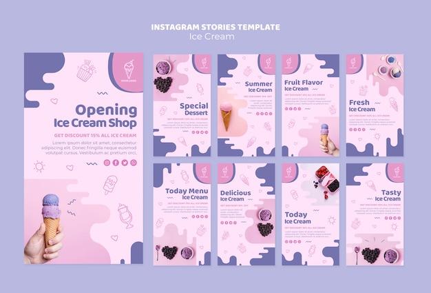 Storie di instagram di gelateria Psd Gratuite