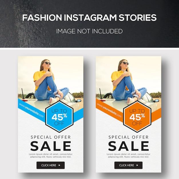 Storie di moda su instagram Psd Premium