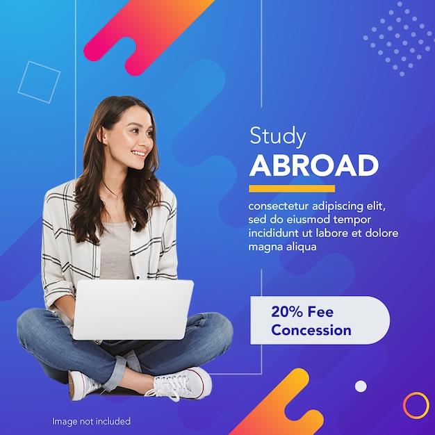 Studiare all'estero Psd Premium
