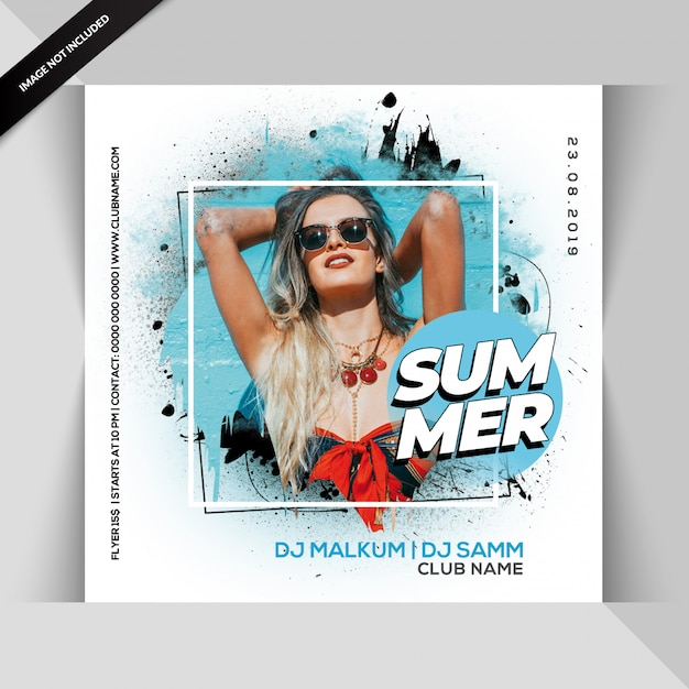 Summer party flyer Psd Premium