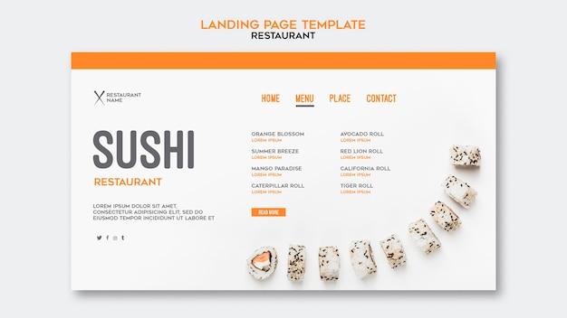 Sushi restaurant sjabloon Gratis Psd