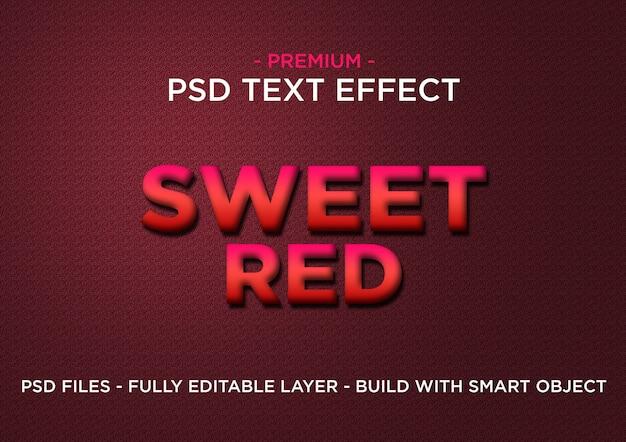 Sweet red premium photoshop psd-stijlen teksteffect Premium Psd