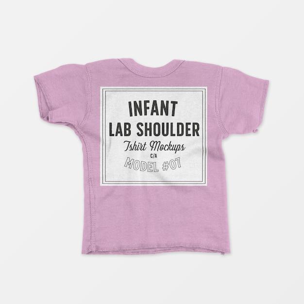 T-shirt met korte mouwen voor baby's Gratis Psd
