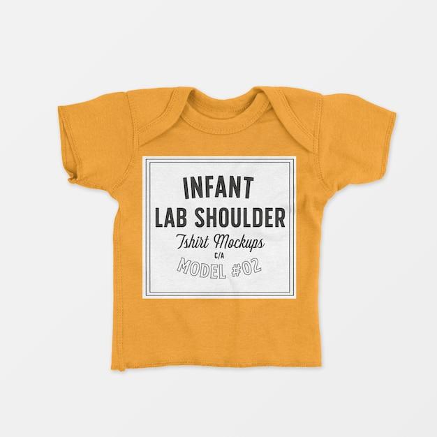 T-shirt met ronde hals voor baby's, mockup 02 Gratis Psd