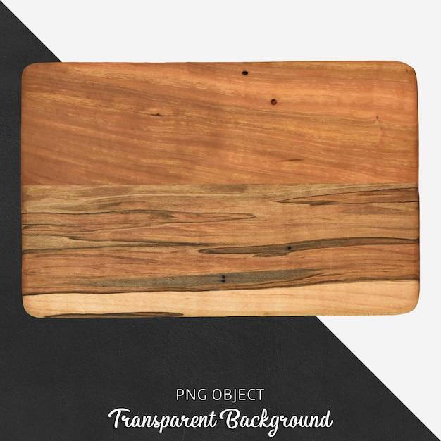 Tabla de cortar de madera del rectángulo en fondo transparente PSD Premium