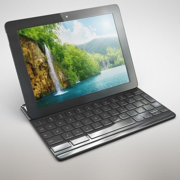 Tablet mock up design Gratis Psd