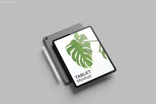 Tablet mockup ontwerpweergave Premium Psd