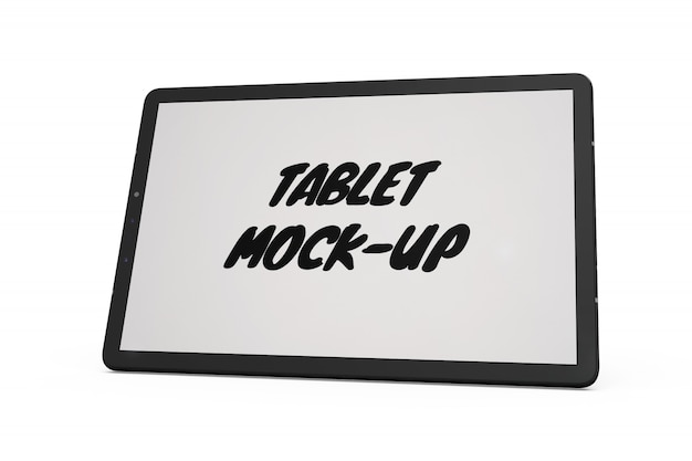 Tabletmodel geïsoleerd Gratis Psd