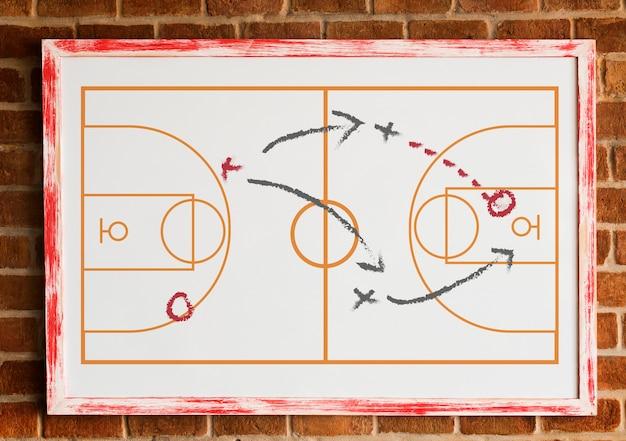 Táctica del juego de mesa de entrenamiento deportivo PSD gratuito