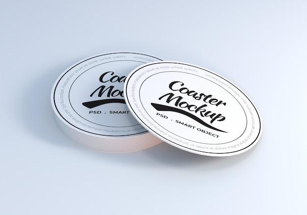 Tafel coaster mockup ontwerpsjabloon Premium Psd
