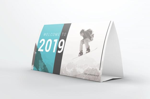 Tafel tent kalender mockup Premium Psd