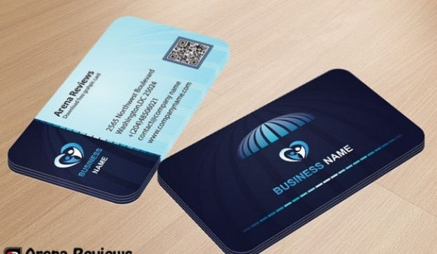 tarjeta de presentación corporativa en colores azul descargar psd
