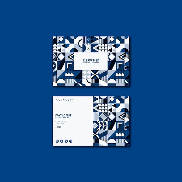 Tarjeta de negocios geométrica color del año 2020 PSD gratuito