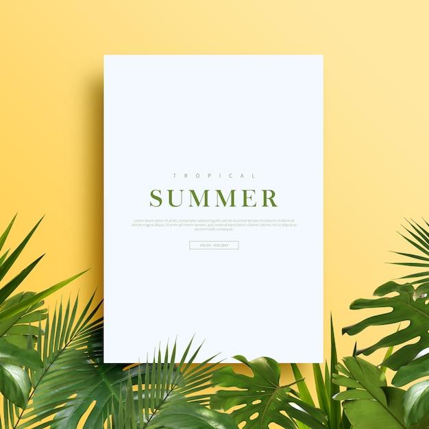 Tarjeta de verano o banner PSD Premium