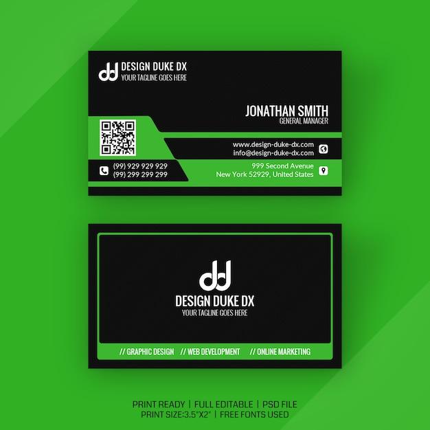 Tarjeta de visita creativa PSD Premium