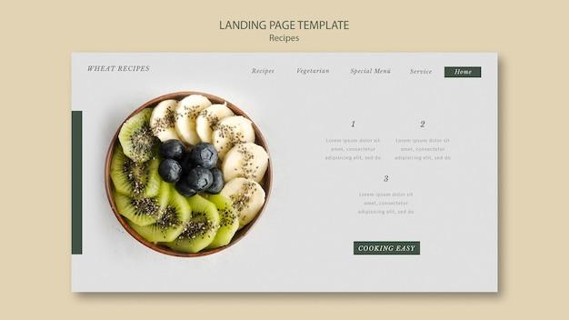 Tarwe recept bestemmingspagina websjabloon Gratis Psd