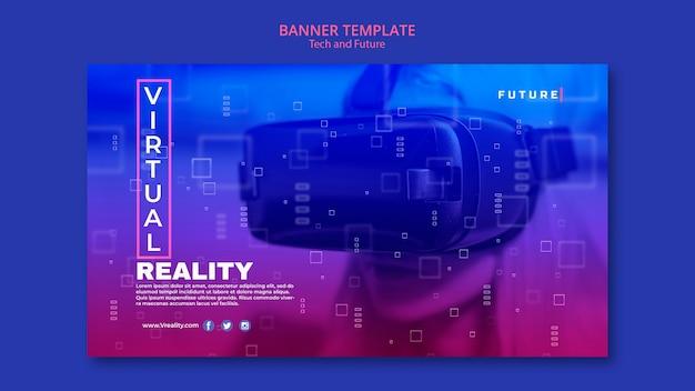 Tech en toekomst concept banner Gratis Psd
