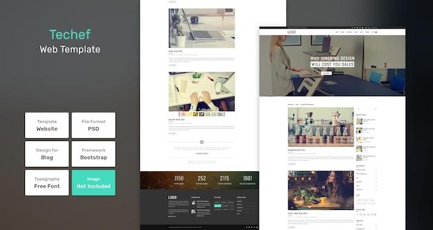 Techef blog websjabloon Premium Psd