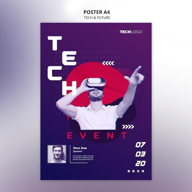 Technologie concept voor poster Gratis Psd