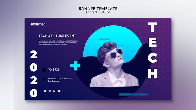 Technologieconcept voor banner Gratis Psd