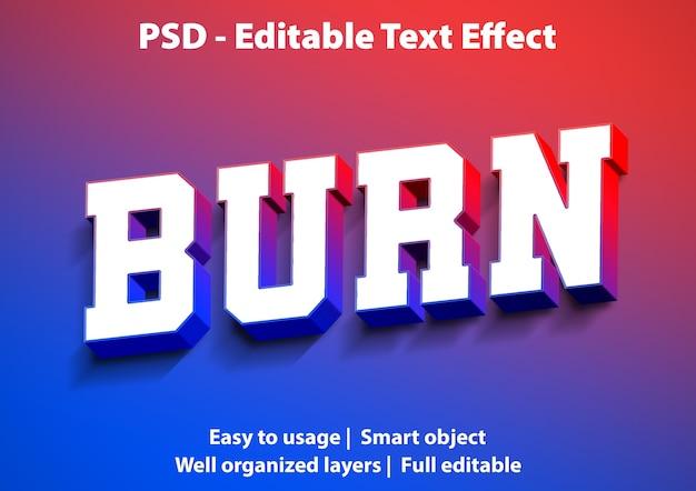 Teksteffect brandstijlsjabloon Premium Psd
