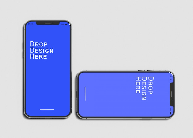 Telefoon x mockup Premium Psd