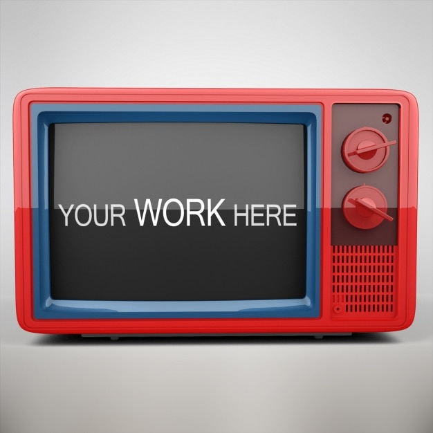 Televisie mock up design Gratis Psd