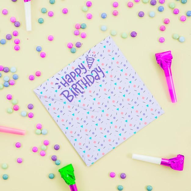 Tema festivo para la fiesta de cumpleaños PSD gratuito