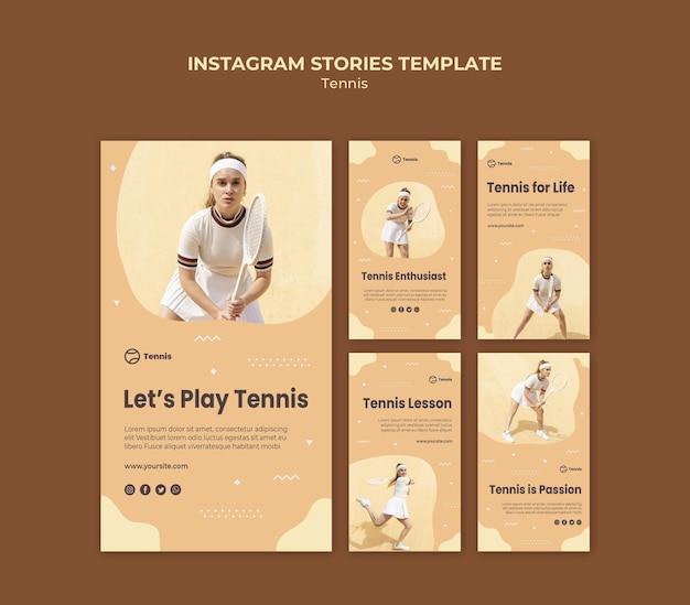 Tennis instagram verhalen sjabloon Gratis Psd