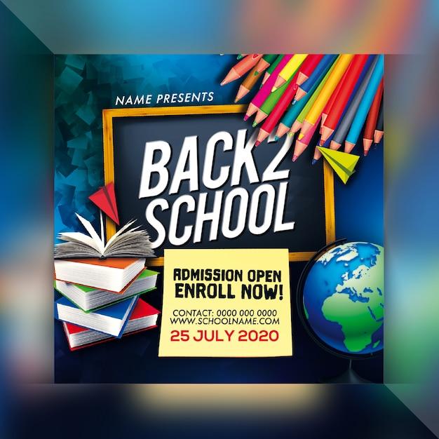 Terug naar school flyer Premium Psd