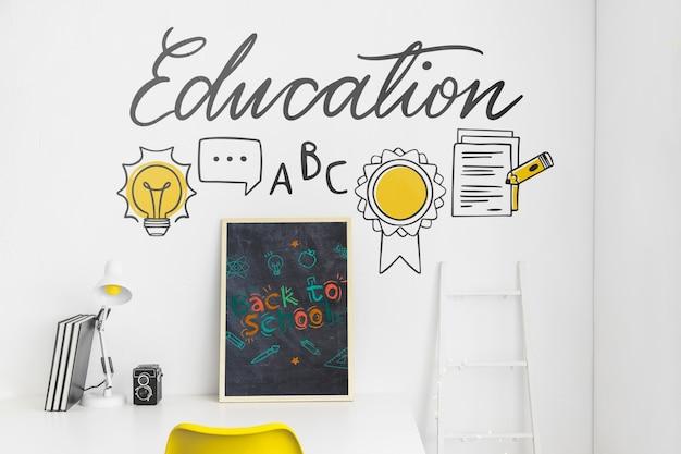Terug naar school reclame mockup ontwerp Gratis Psd