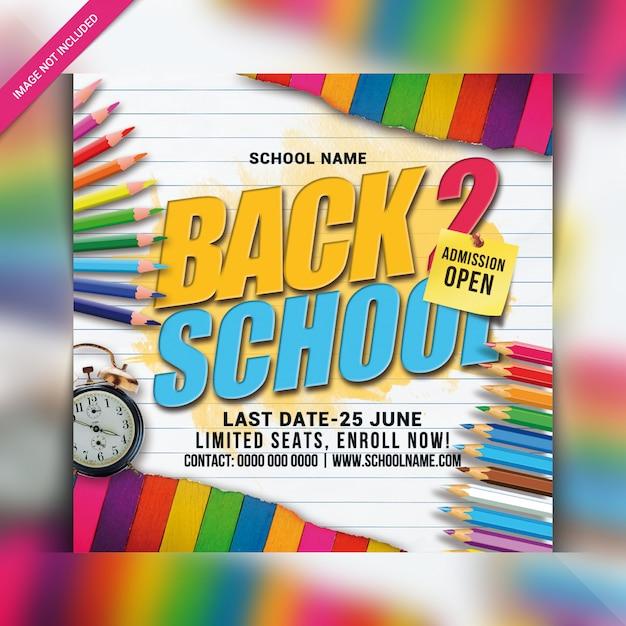 Terug naar schoolfeest flyer Premium Psd