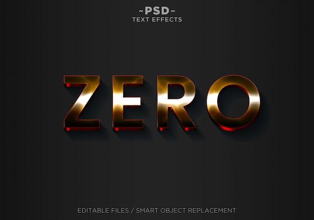 Testo modificabile con effetti di stile zero 3d Psd Premium