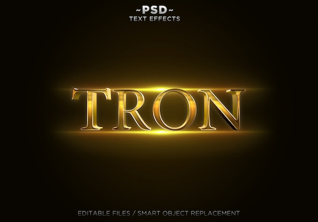 Testo modificabile di effetti 3d gold trone Psd Premium