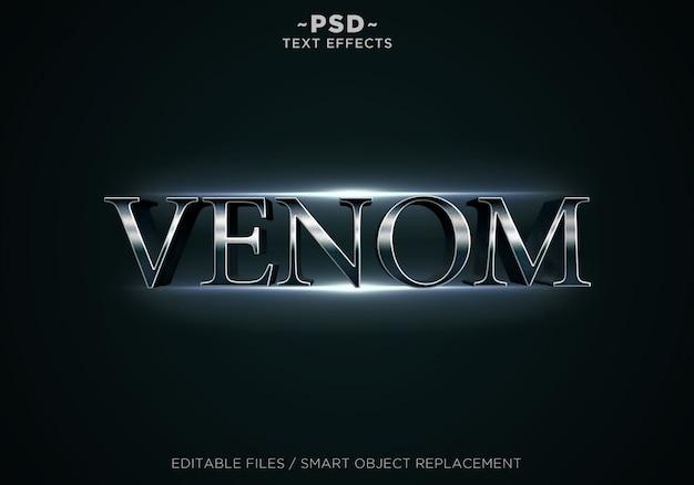Testo modificabile di effetti venom 3d Psd Premium