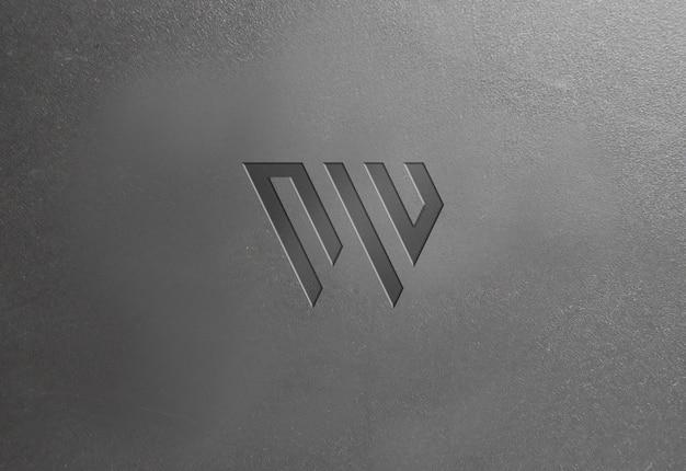 Texture di plastica scura logo mockup Psd Premium
