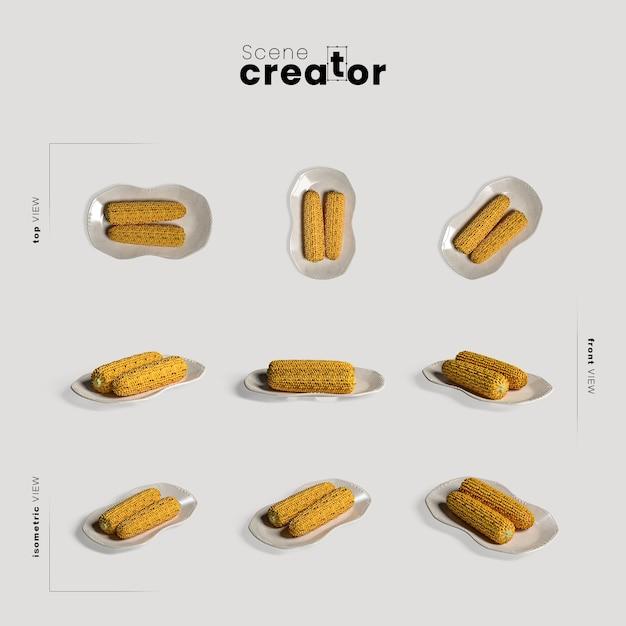 Thanksgiving-arrangement met maïs Gratis Psd