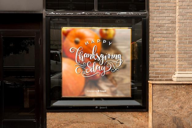 Thanksgiving billboard mock-up Gratis Psd