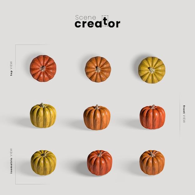 Thanksgiving regeling met kleurrijke pompoenen Gratis Psd