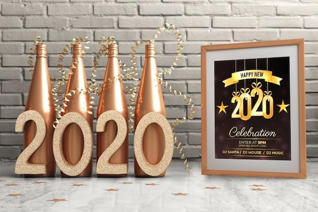 Thematische decoraties voor nieuwjaarsnacht Gratis Psd