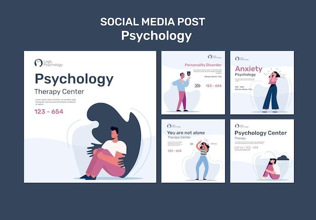 Therapiecentrum social media postsjabloon Gratis Psd