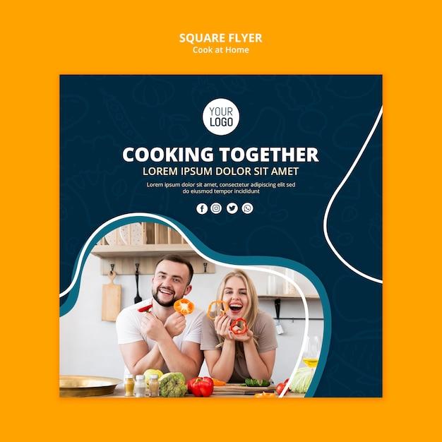 Thuis koken flyer concept Gratis Psd